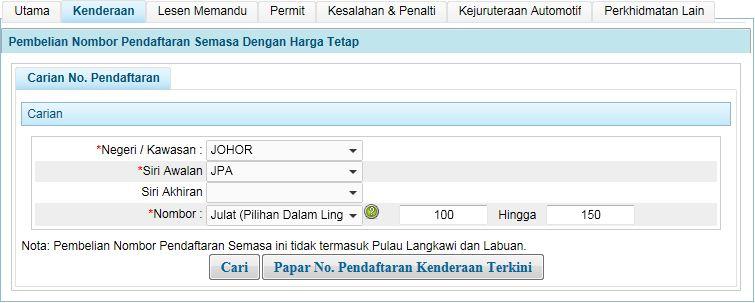 Termpahan No Pendaftaran